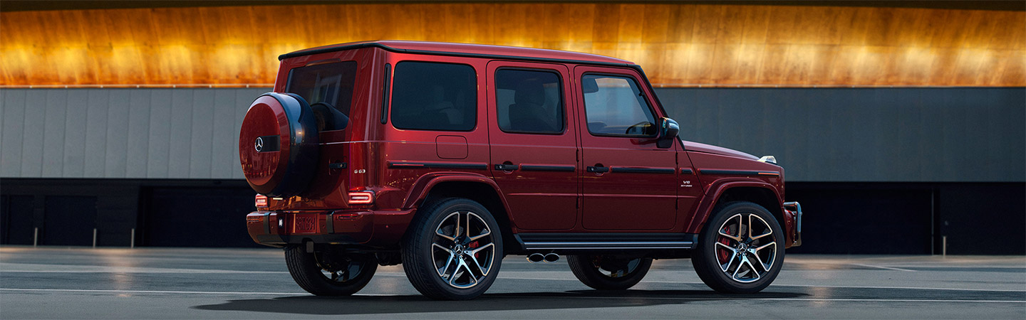 Side View of Red G-Class AMG
