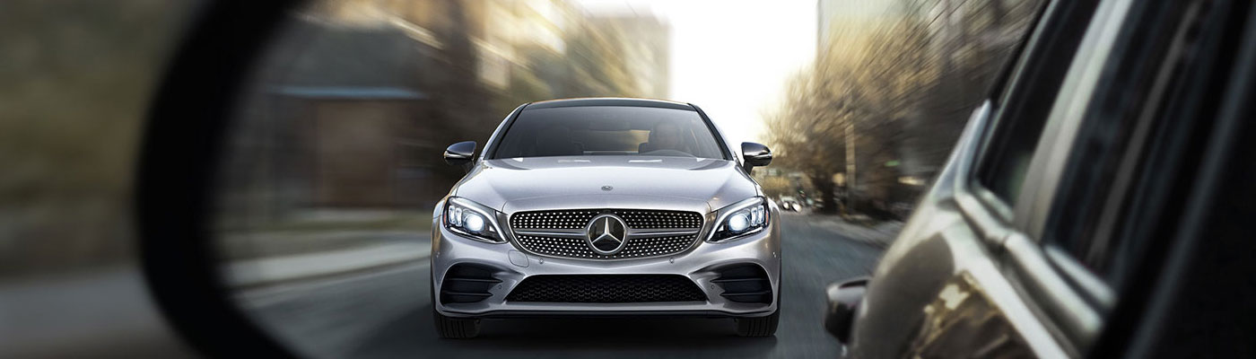 Front view of C-class coupe