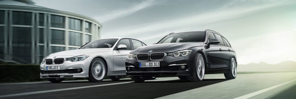 Two BMW Alpina D3 BiTurbos in white and black
