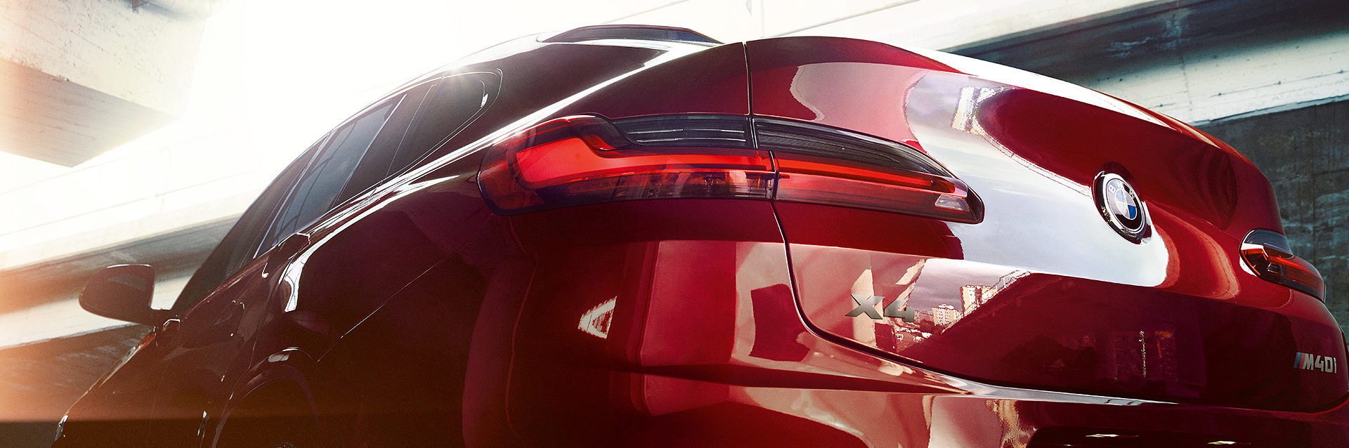taillight shot of BMW X4