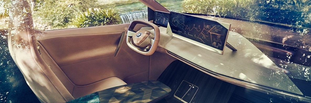 Interior shot of the concept interior of the BMW iNext