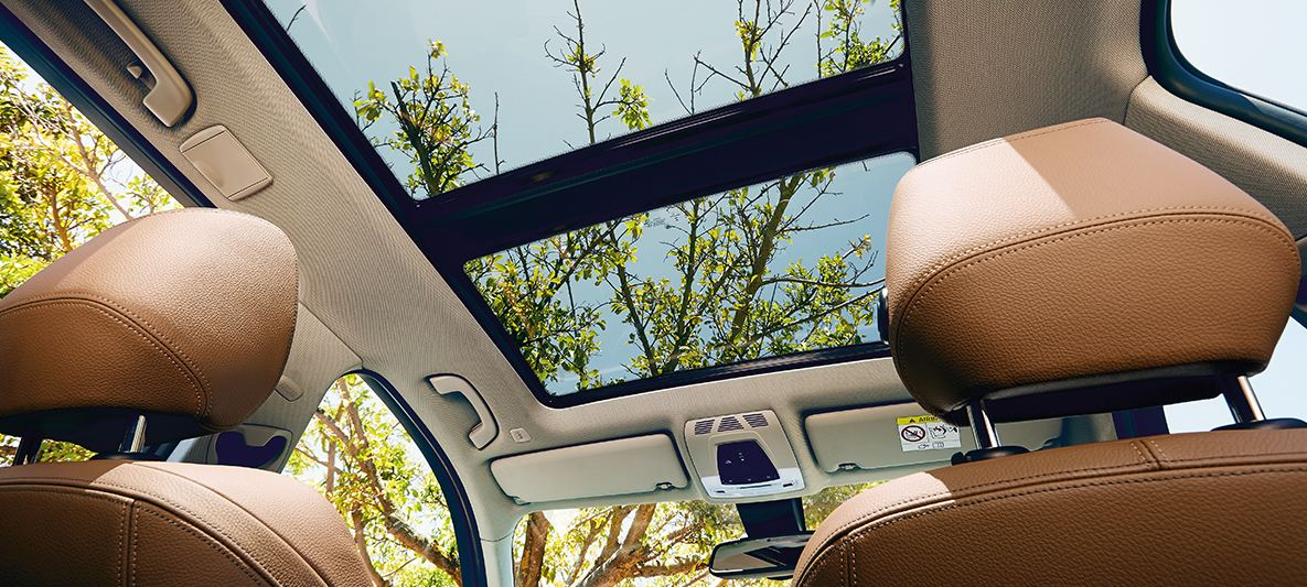 View from the BMW 3 Series Touring panoram sunroof
