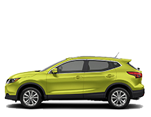 Nissan Qashqai SV in lime green