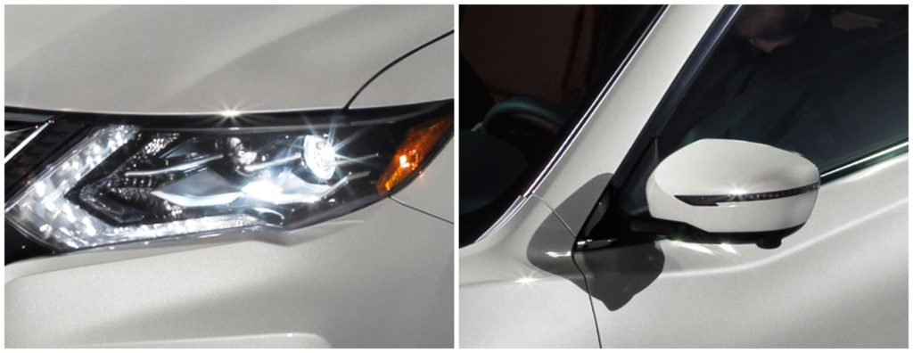 2019 Rogue headlight and sideview mirror