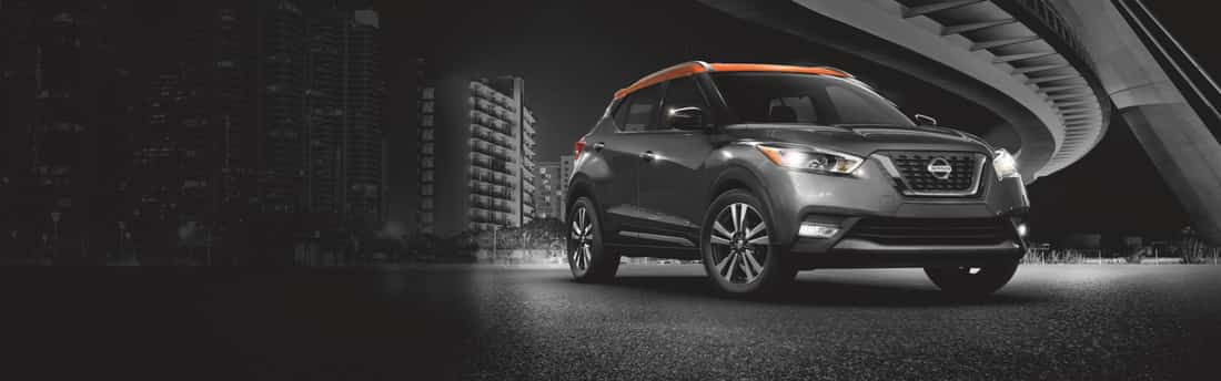 Black and orange-trimmed Nissan Kicks