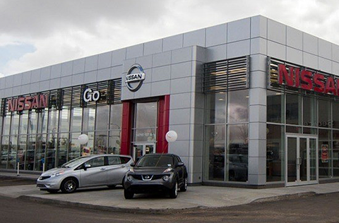 Go Nissan North Dealership Exterior