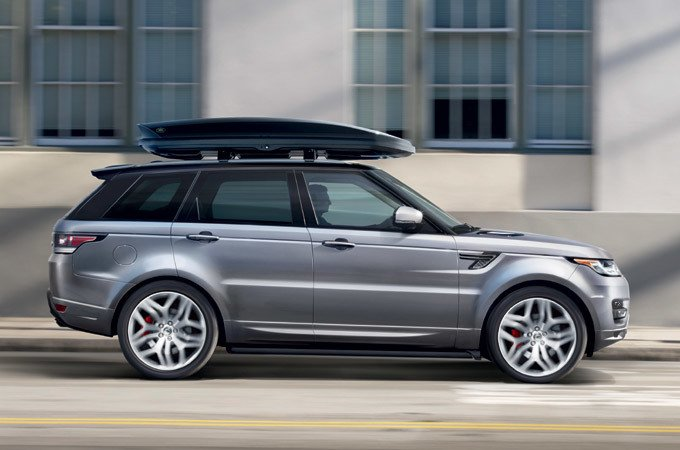 Range ROver with Roof Racks
