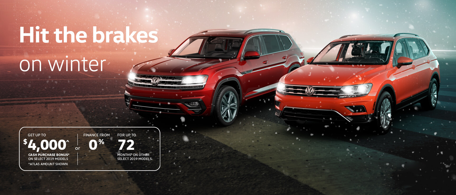 Volkswagen winter offer