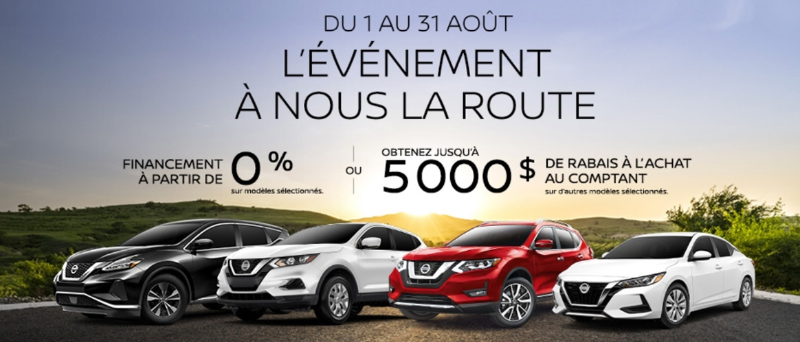 French Nissan August 2020 Offer