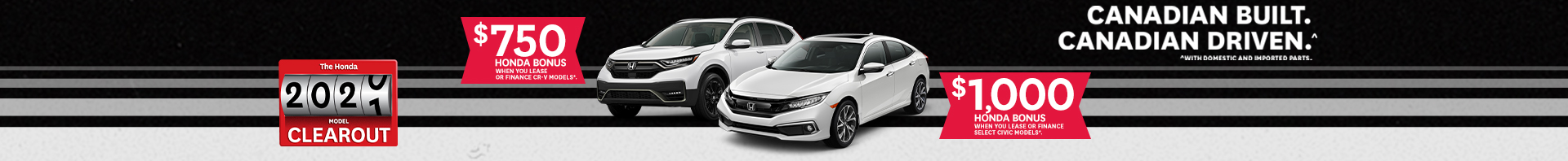 October 2020 Honda Incentive