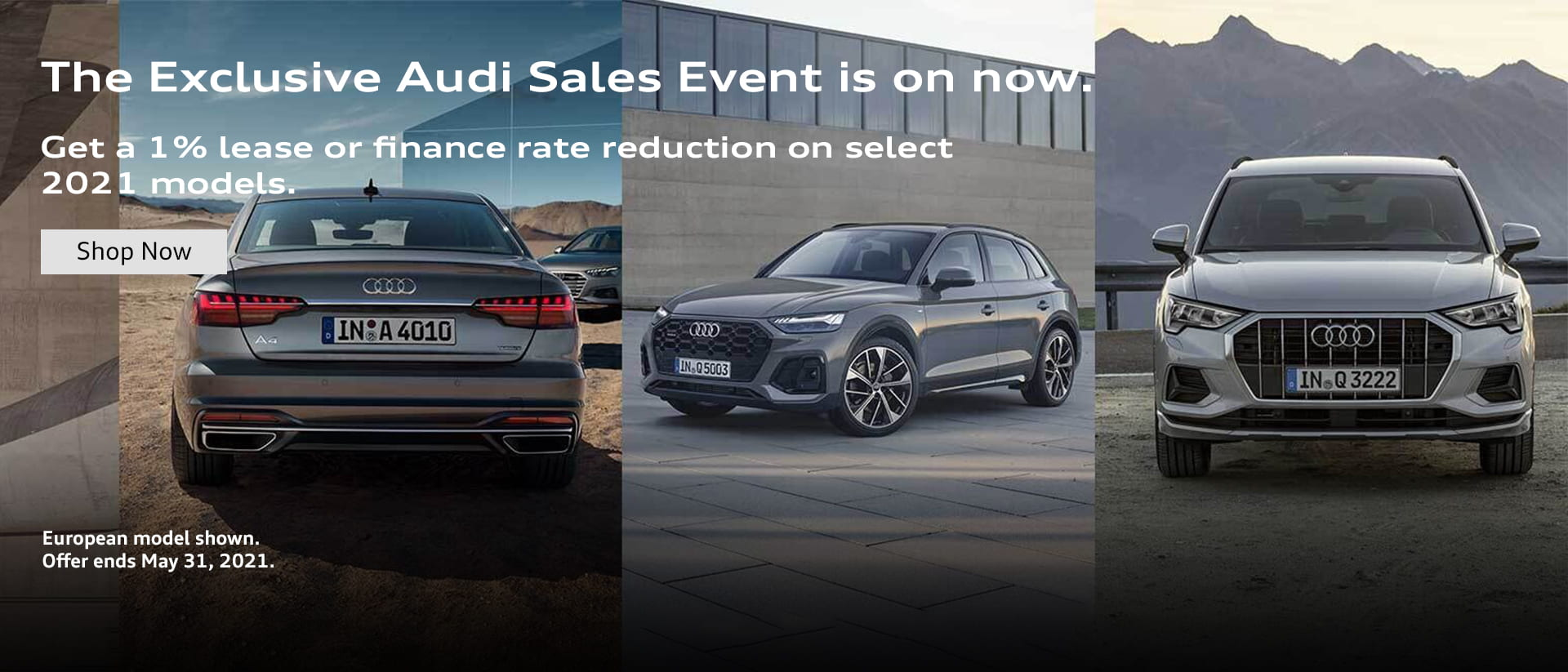 Audi 2021 May Incentive Graphic
