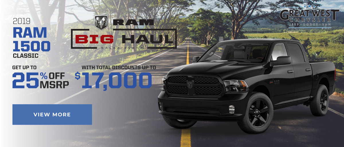 July Ram 1500 offer