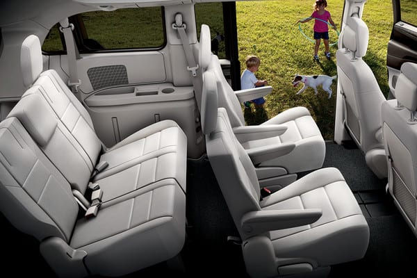 Dodge Grand Caravan Interior seating and storage room