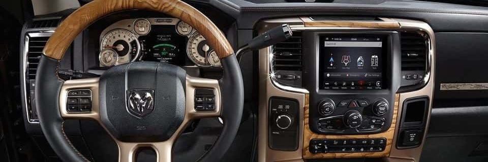 A look at one of the many luxurious interiors available on the 2018 RAM 3500