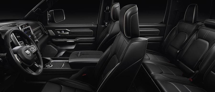 2019 RAM 1500 interior seating form side view