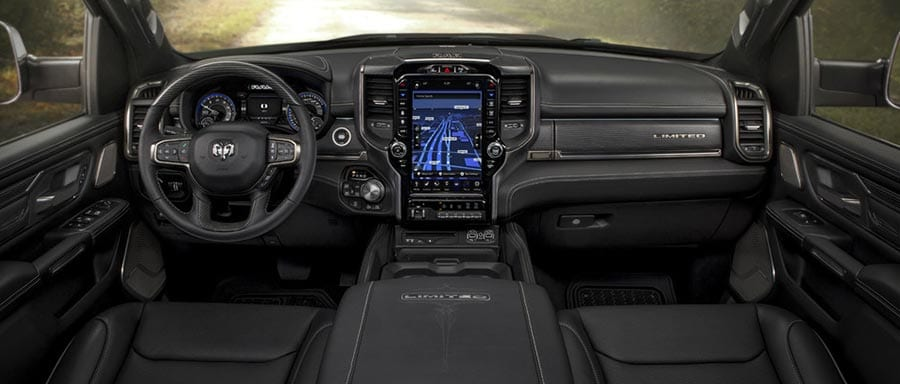 2019 RAM 1500 Interior view of dashboard