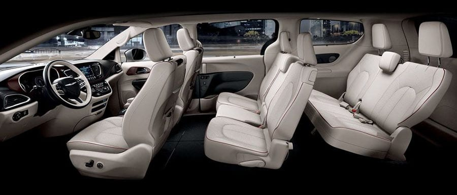 2018 Chrysler Pacifica interior seating side view