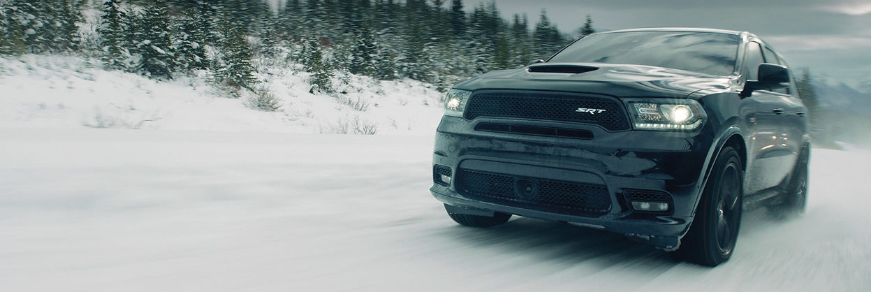2019 Dodge Durango driving in the snow