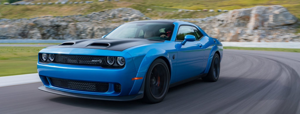 2019 dodge challenger hellcat redeye from side view