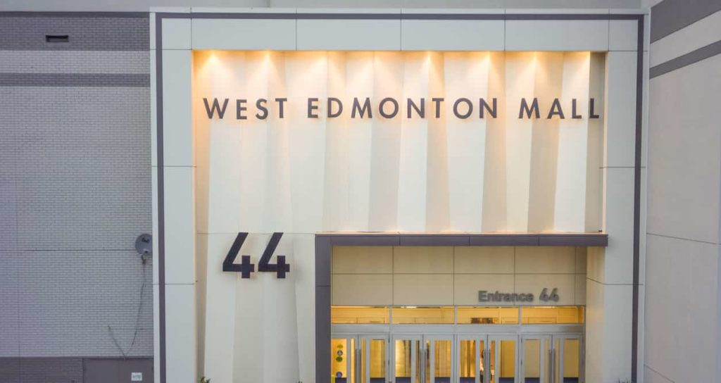 The exterior of entrance 44 in West Edmonton Mall