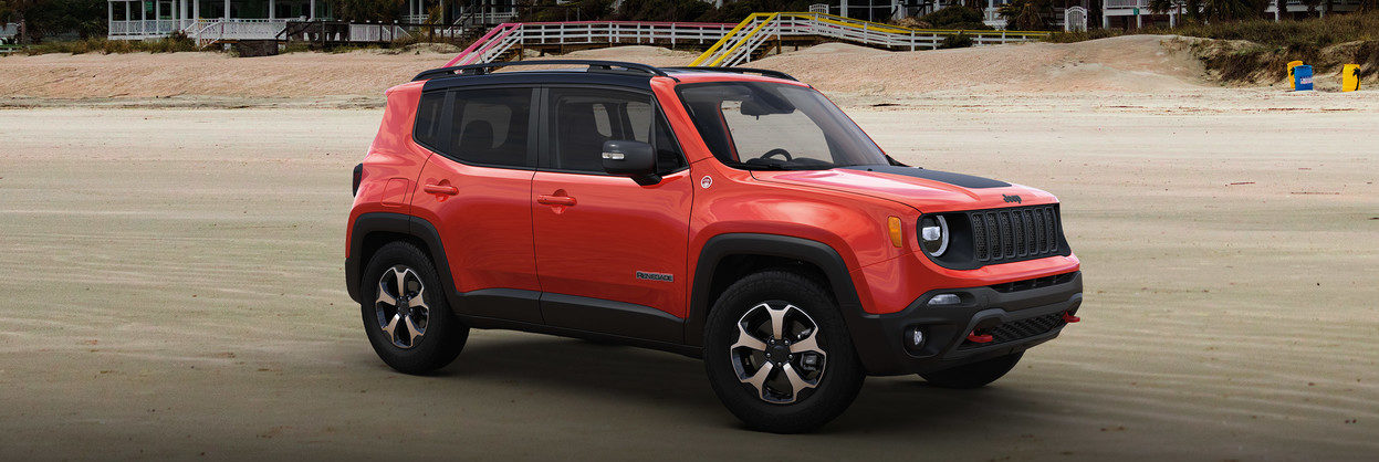 2020 Jeep Renegade on the beach