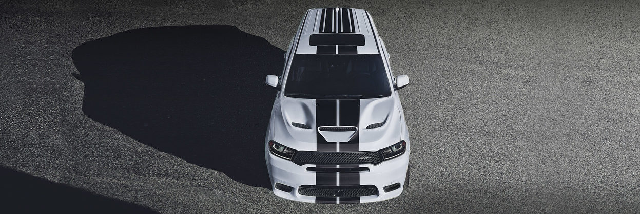 Overhead view of a 2019 Dodge Durango SRT