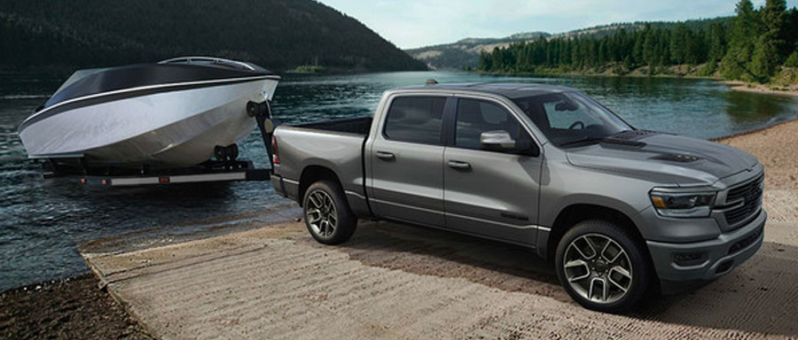 2019 RAM 1500 with towing trailer