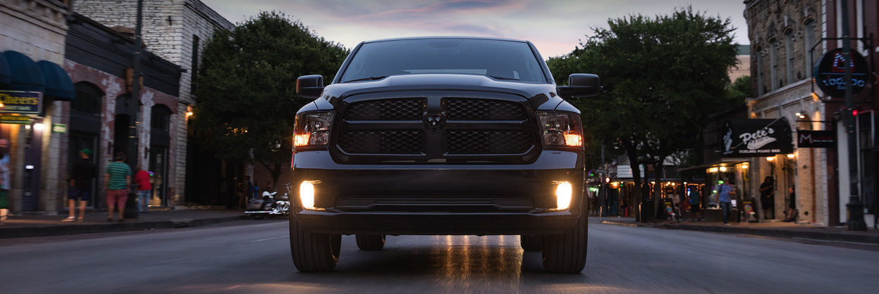 Front of a black 2020 Ram 1500 Classic
