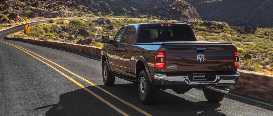 2020 Ram 2500 rear on the highway