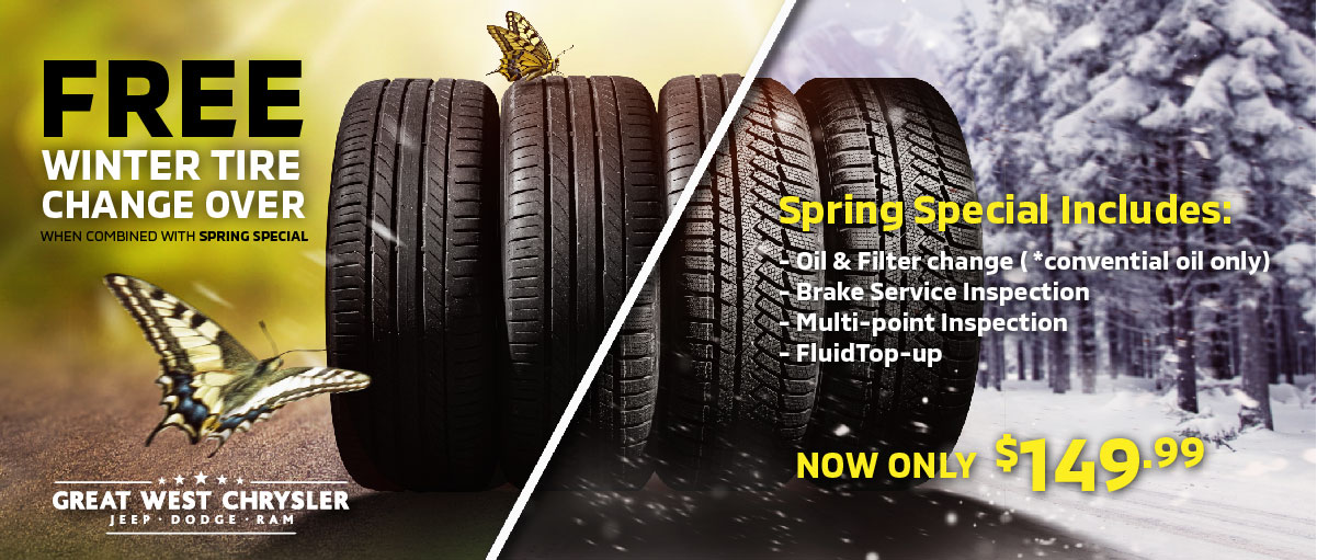 Free Winter Tire Changeover
