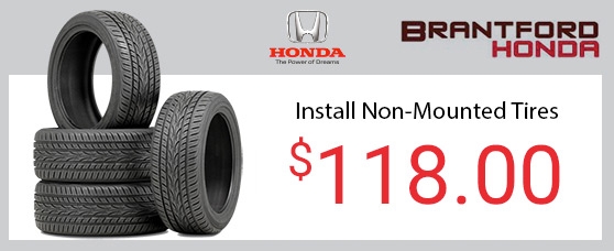 Install Non Mounted Tires