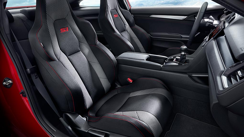 2019 honda civic coupe si seats