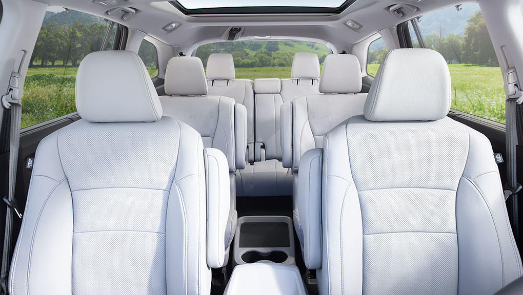 A look at the spacious interior of the 2019 Honda Pilot.