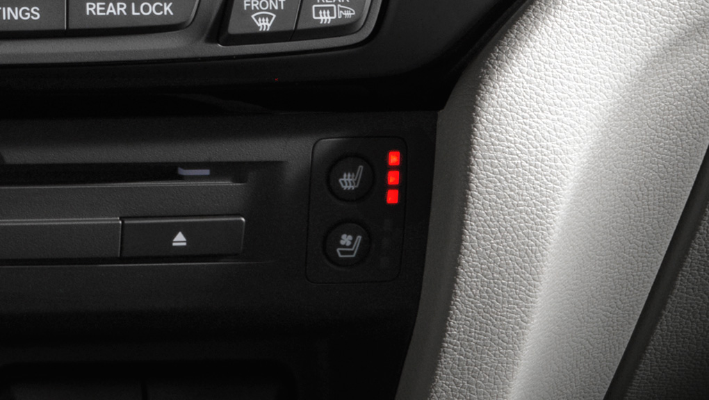 Available heated seats in the 2019 Honda Pilot