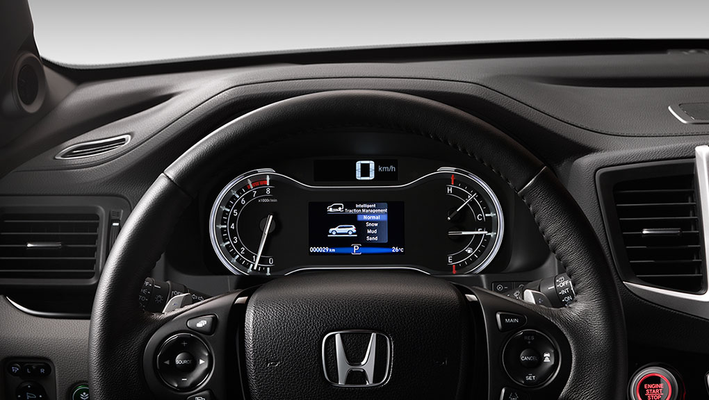 Right in the driver's view, you can monitor essential information in the 2019 Honda Pilot