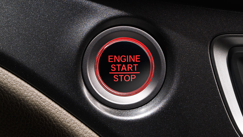 A look at the keyless pushbutton start in the 2019 Honda Pilot