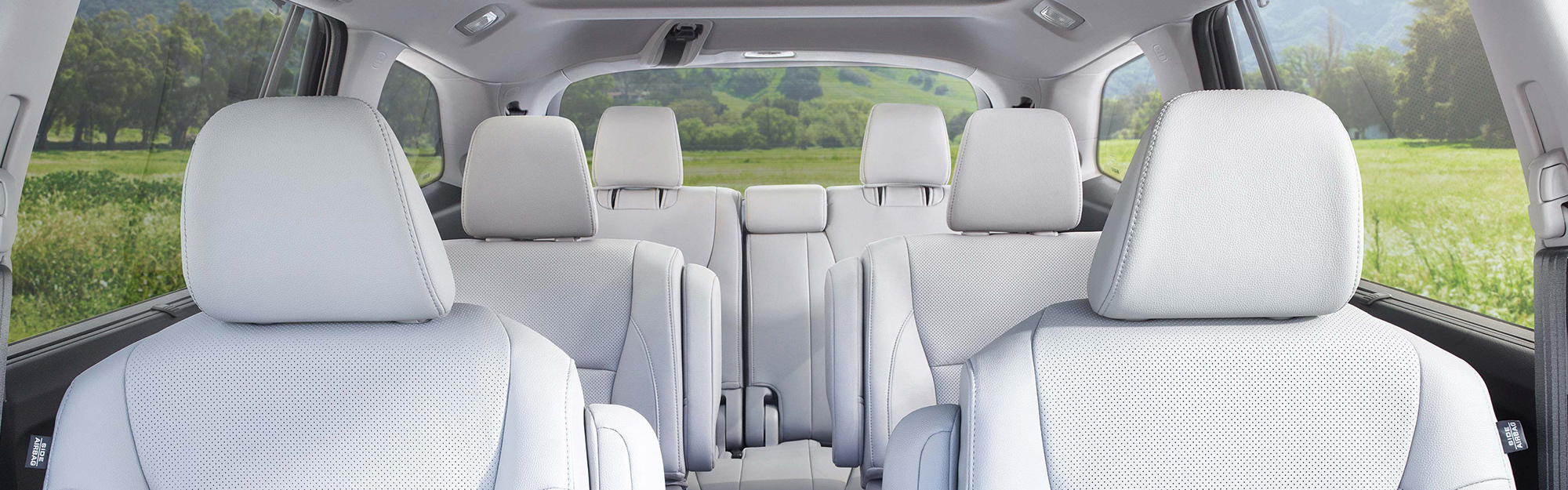 The comfy, stylish interior of the 2019 Honda Pilot.