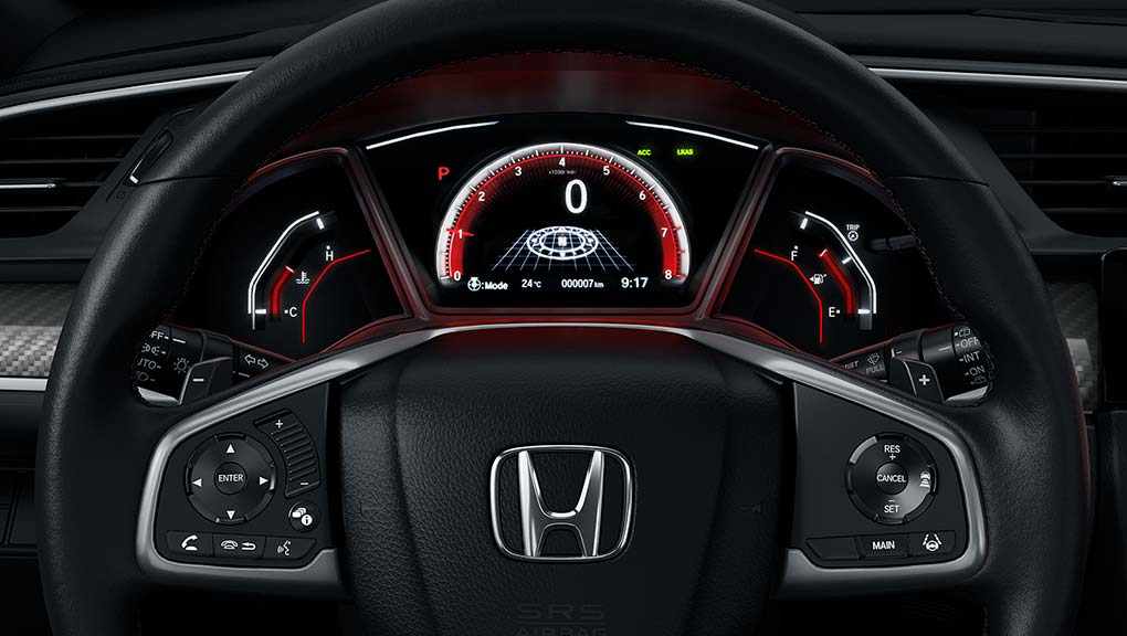 2019 Honda Civic Hatchback driver information interface system