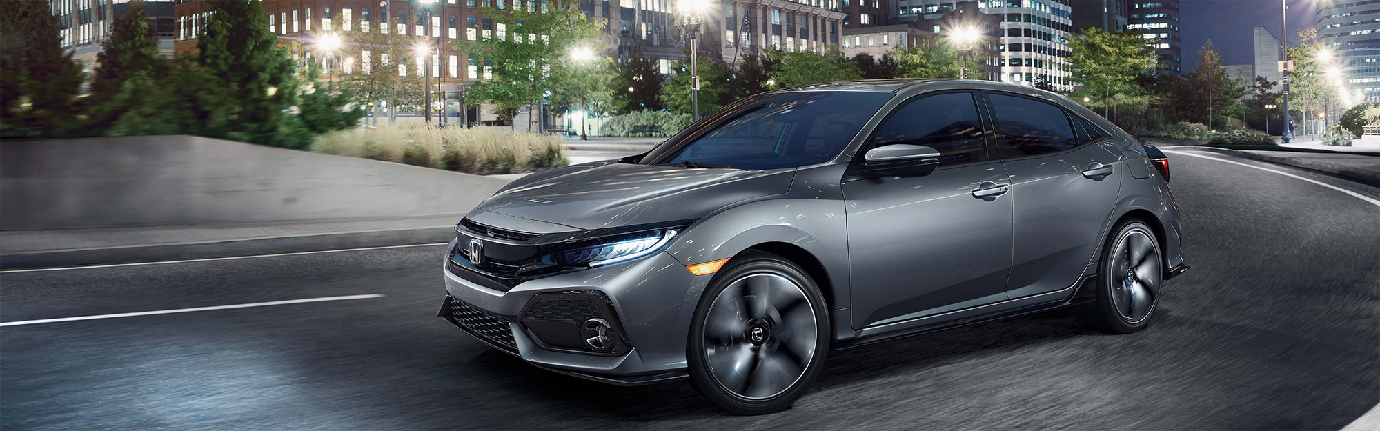 2019 Honda Civic Hatchback in dark grey