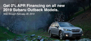 February Incentive | Subaru Outback Models