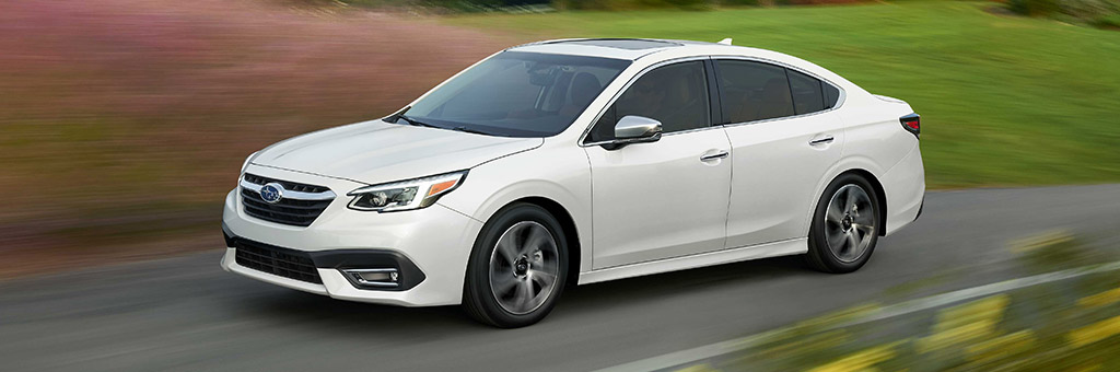 3/4 view of a 2020 Subaru Legacy
