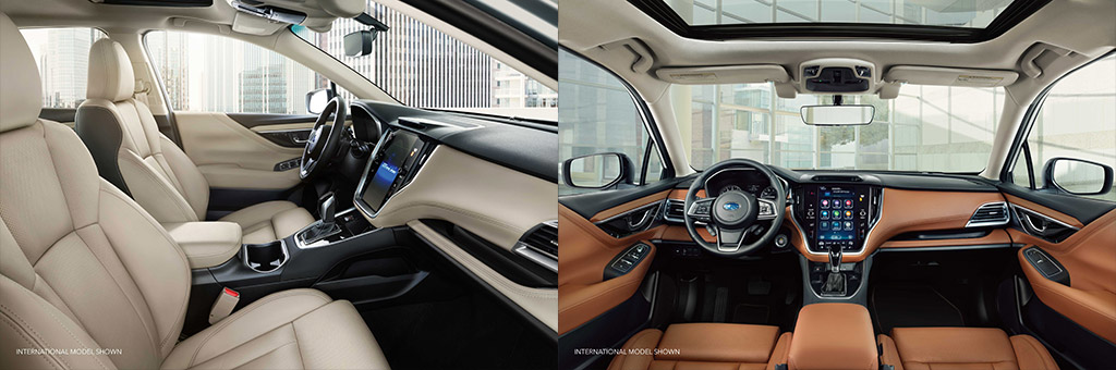 2020 Subaru Legacy Interior view of seating and dashboard