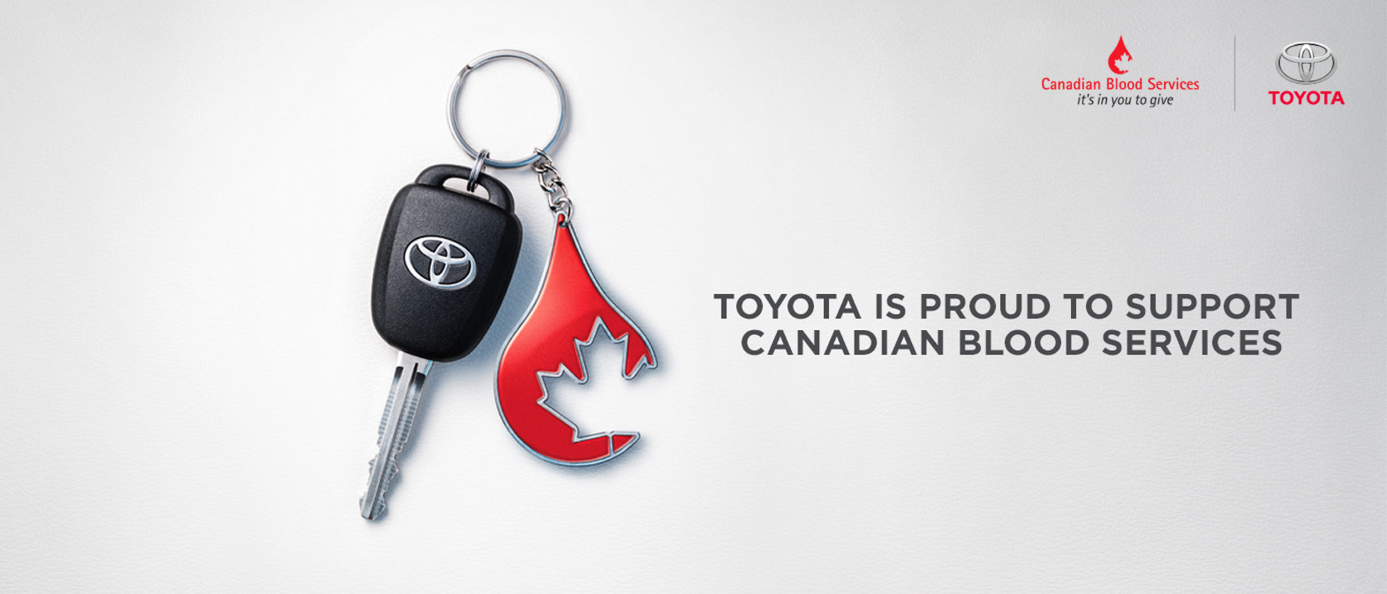 Toyota is Proud to Support Canadian Blood Services