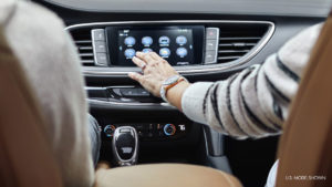 Using the handy touchscreen interface of the 2019 Buick Enclave