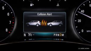 The collision alert on the 2019 Buick Encore