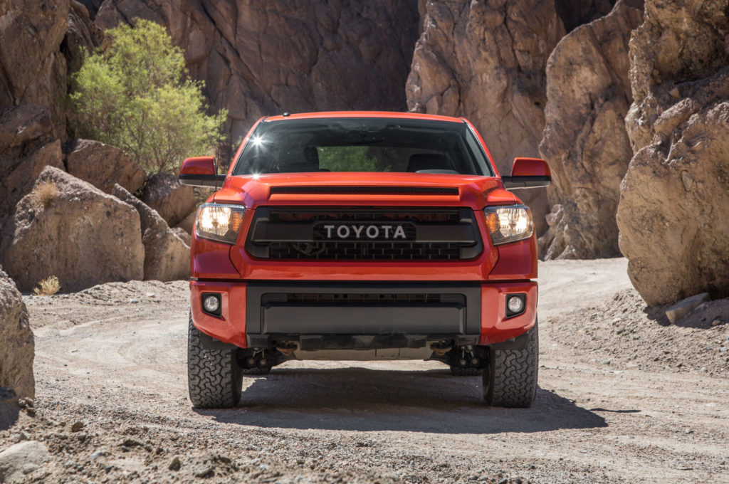 2015 Toyota Tundra Trd Pro Front Grille Headlights On Collingwood Toyota