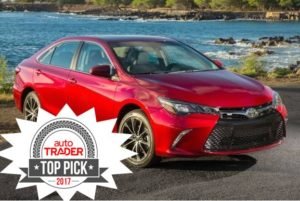 Toyota Camry is a top family car pick