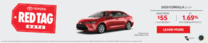Red Tag Corolla October 2020