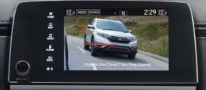 The rear-view camera on the 2019 Honda CR-V lets you see whats coming up in your blind spot