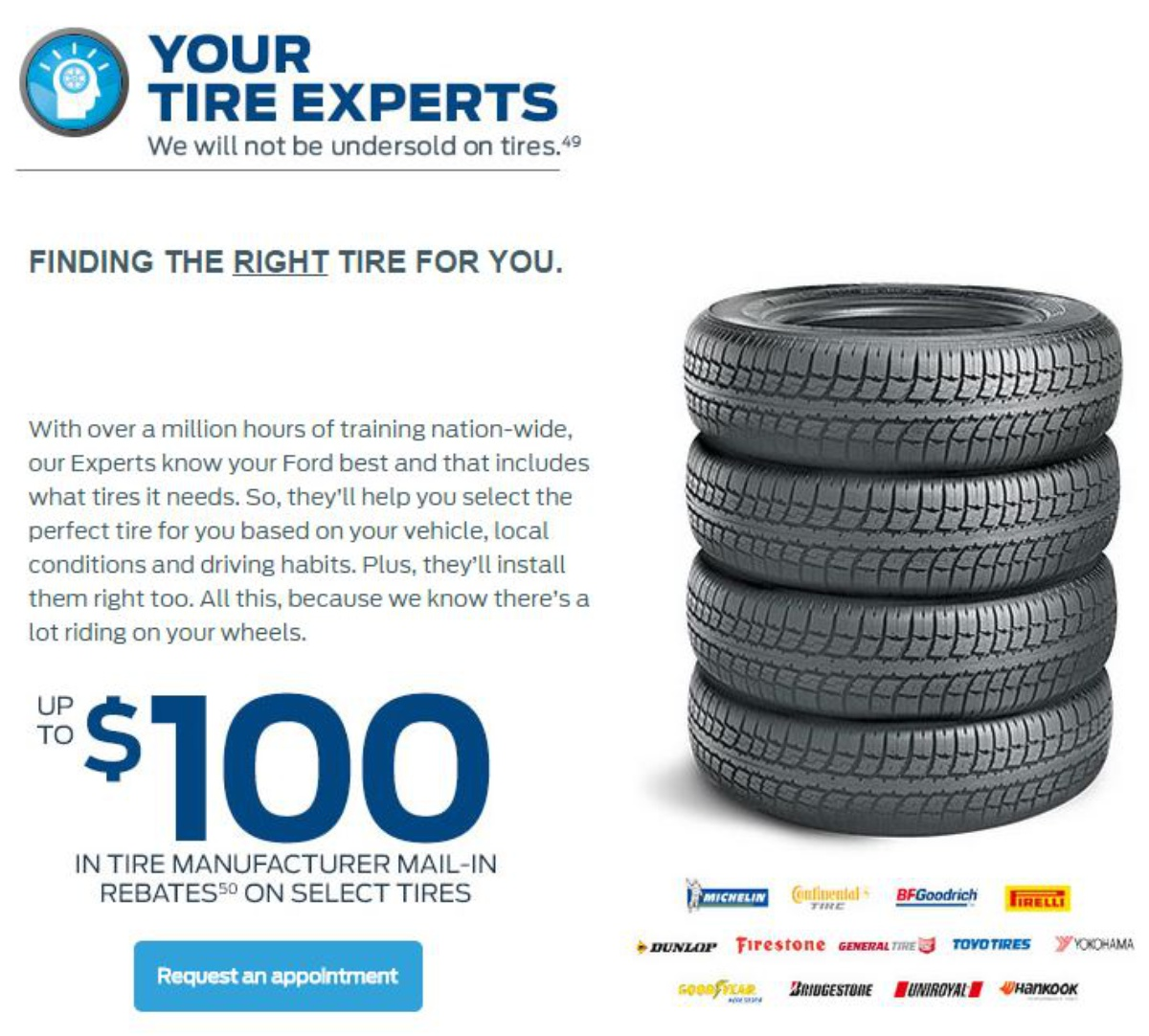 Ford Tire Offer